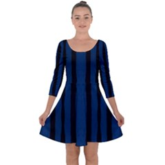 Tarija 016 Black Navy Quarter Sleeve Skater Dress by Tarijablackblue