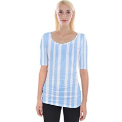 Tarija 016 White Light Blue Wide Neckline Tee