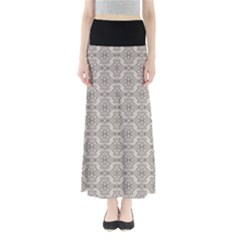 Timeless - Black & Abalone Grey Full Length Maxi Skirt by FashionLane