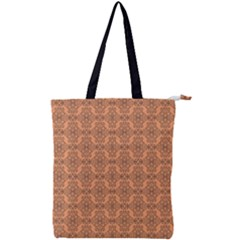 Timeless   Black & Cantaloupe Orange Double Zip Up Tote Bag