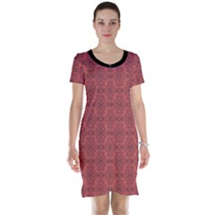 Timeless - Black & Indian Red Short Sleeve Nightdress