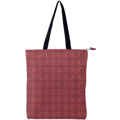 Timeless - Black & Indian Red Double Zip Up Tote Bag by FashionLane