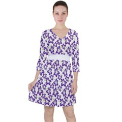 Cute Flowers   Imperial Purple Ruffle Dress