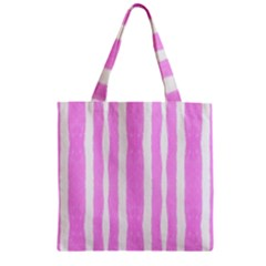 Tarija 016 White Pink Zipper Grocery Tote Bag