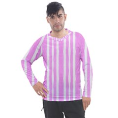 Tarija 016 White Pink Men s Pique Long Sleeve Tee