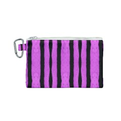 Tarija 016 Pink Black Canvas Cosmetic Bag (small)