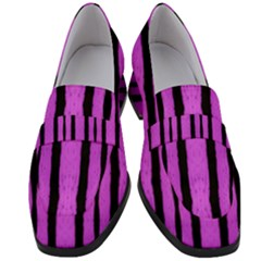 Tarija 016 Pink Black Women s Chunky Heel Loafers