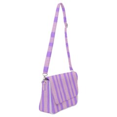 Tarija 016 Pink Purple Shoulder Bag With Back Zipper
