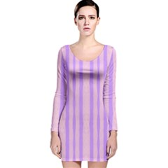 Tarija 016 Pink Purple Long Sleeve Velvet Bodycon Dress