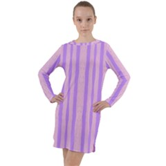 Tarija 016 Pink Purple Long Sleeve Hoodie Dress