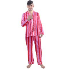 Tarija 016 Red Pink Men s Satin Pajamas Long Pants Set