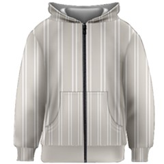 Nice Stripes   Abalone Grey Kids  Zipper Hoodie Without Drawstring