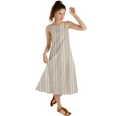 Nice Stripes   Abalone Grey Summer Maxi Dress