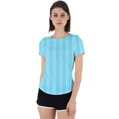 Nice Stripes - Arctic Blue Back Cut Out Sport Tee
