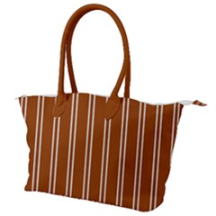 Nice Stripes - Burnt Orange Canvas Shoulder Bag by FashionLane