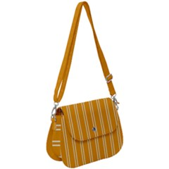 Nice Stripes - Honey Orange Saddle Handbag by FashionLane