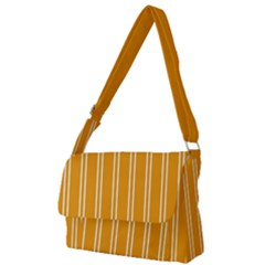 Nice Stripes - Honey Orange Full Print Messenger Bag (l) by FashionLane