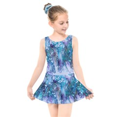 Sea Anemone Kids  Skater Dress Swimsuit by CKArtCreations