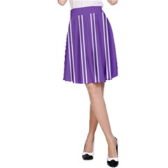 Nice Stripes - Imperial Purple A-line Skirt by FashionLane