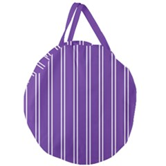 Nice Stripes - Imperial Purple Giant Round Zipper Tote by FashionLane