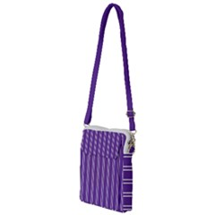 Nice Stripes   Imperial Purple Multi Function Travel Bag