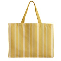 Nice Stripes - Mellow Yellow Zipper Mini Tote Bag by FashionLane