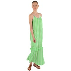 Nice Stripes   Mint Green Cami Maxi Ruffle Chiffon Dress