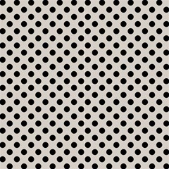 Polka Dots Black On Abalone Grey Fabric by FashionLane