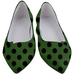 Polka Dots - Black On Basil Green Women s Block Heels