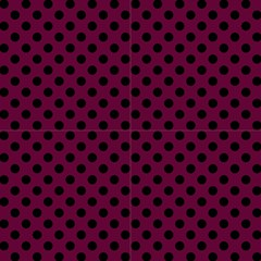 Polka Dots Black On Boysenberry Purple Fabric by FashionLane