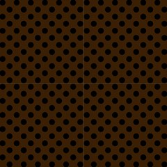 Polka Dots Black On Brunette Brown Fabric by FashionLane