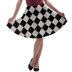 Block Fiesta Black And Abalone Grey A Line Skater Skirt