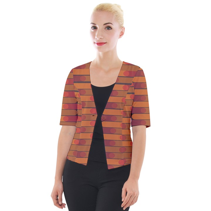 Zappwaits Zz Cropped Button Cardigan
