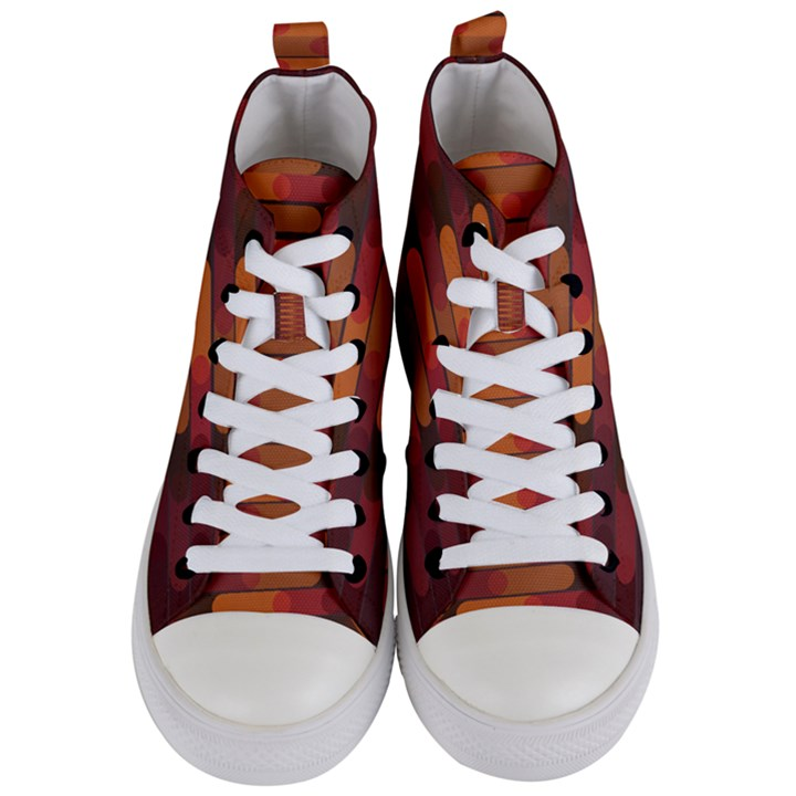 Zappwaits Zz Women s Mid-Top Canvas Sneakers