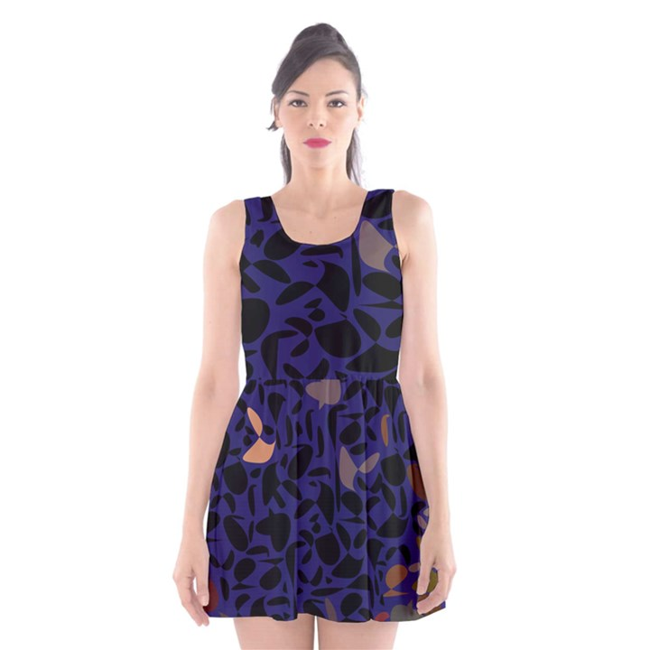 Zappwaits Scoop Neck Skater Dress