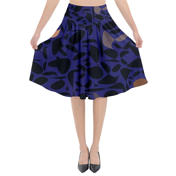Zappwaits Flared Midi Skirt