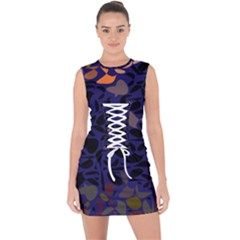 Zappwaits Lace Up Front Bodycon Dress