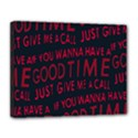 Motivational Phrase Motif Typographic Collage Pattern Canvas 14  x 11  (Stretched) View1
