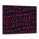 Motivational Phrase Motif Typographic Collage Pattern Canvas 20  x 16  (Stretched) View1