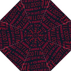 Motivational Phrase Motif Typographic Collage Pattern Straight Umbrellas