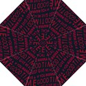 Motivational Phrase Motif Typographic Collage Pattern Straight Umbrellas View1
