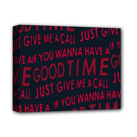 Motivational Phrase Motif Typographic Collage Pattern Deluxe Canvas 14  X 11  (stretched)