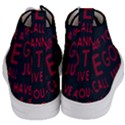 Motivational Phrase Motif Typographic Collage Pattern Women s Mid-Top Canvas Sneakers View4