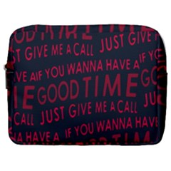Motivational Phrase Motif Typographic Collage Pattern Make Up Pouch (large)