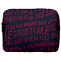 Motivational Phrase Motif Typographic Collage Pattern Make Up Pouch (Large) View1