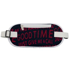 Motivational Phrase Motif Typographic Collage Pattern Rounded Waist Pouch