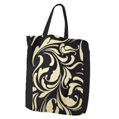 Black Adn Gold Leaves Giant Grocery Tote