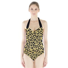 Ghepard Gold Halter Swimsuit
