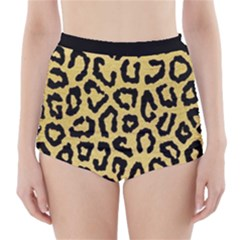 Ghepard Gold High-waisted Bikini Bottoms