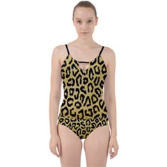 Ghepard Gold Cut Out Top Tankini Set